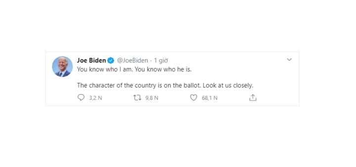 Ông Trump nhã nhặn, người dùng Twitter thấy buổi tranh luận nhạt - 2