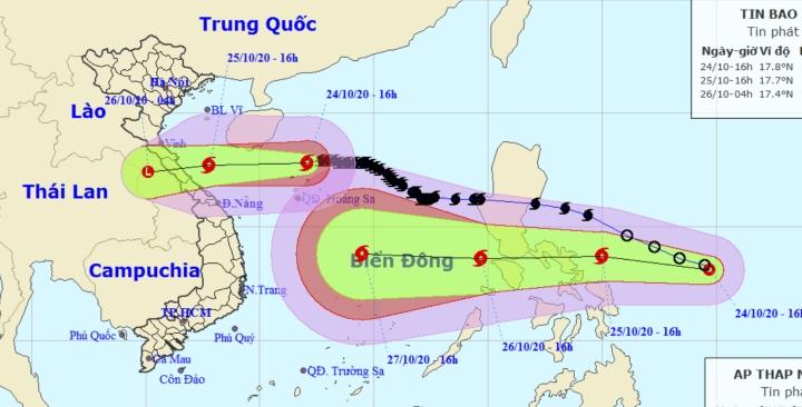 Bão số 8 cách Hoàng Sa 100km, thêm áp thấp nhiệt đới hướng vào Biển Đông - 1