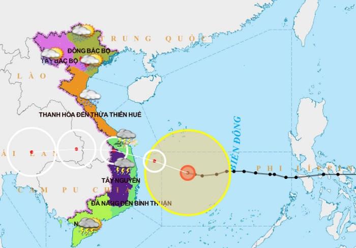 Cơn cuồng phong bão số 9 đang đi ngang, tiến thẳng Quảng Ngãi -Bình Định - 2