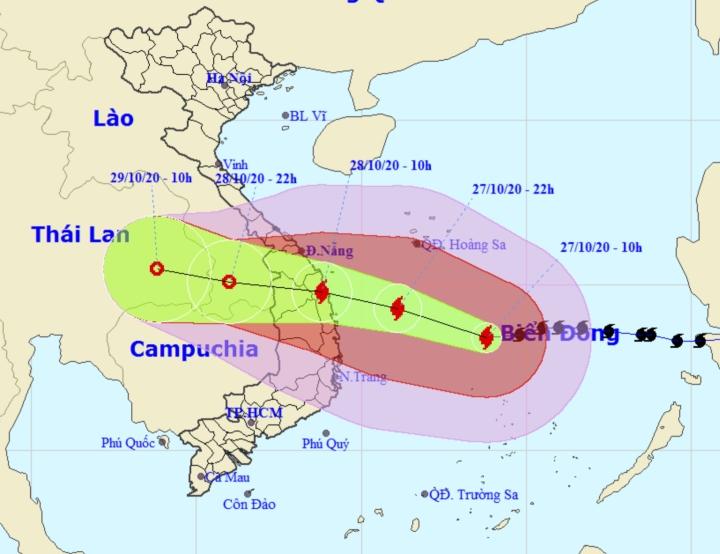 Bão số 9 giật cấp 17 lao nhanh vào Đà Nẵng - Phú Yên, sóng biển cao từ 8-10m - 1