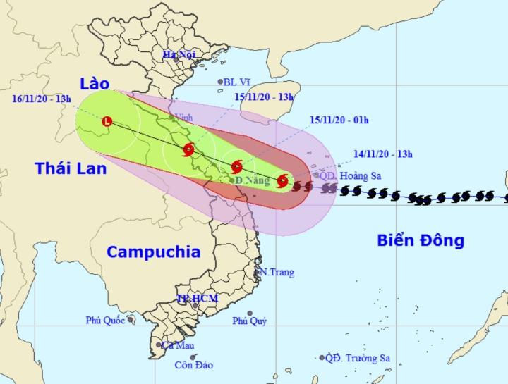 Bão số 13 giảm một cấp, hướng vào Hà Tĩnh - Quảng Nam - 1