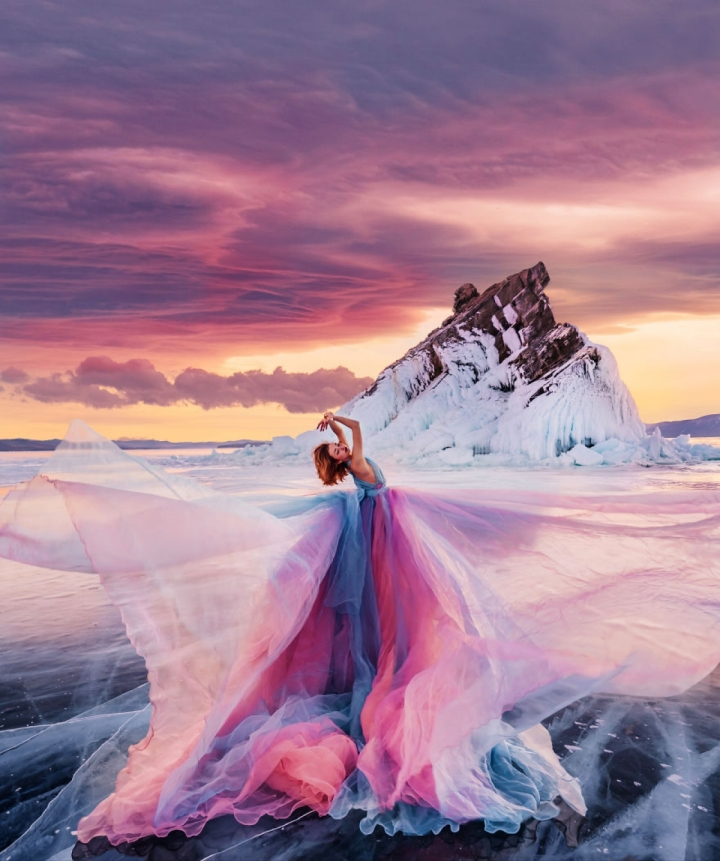 Ảnh: Đẹp sững sờ nhan sắc vũ nữ hòa vào thiên nhiên kỳ ảo - 9