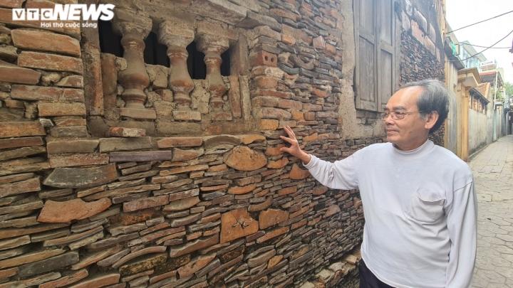 Độc đáo những bức tường cổ xây bằng mảnh chum, tiểu sành ở làng Thổ Hà - 9