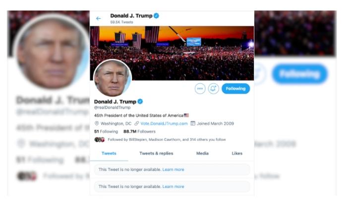 قبلاً هرگز: توییتر رئیس جمهور ترامپ به مدت 12 ساعت قفل شده است - 1
