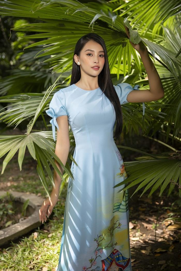 Hoa hậu Tiểu Vy đẹp tinh khôi với áo dài truyền thống  - 7