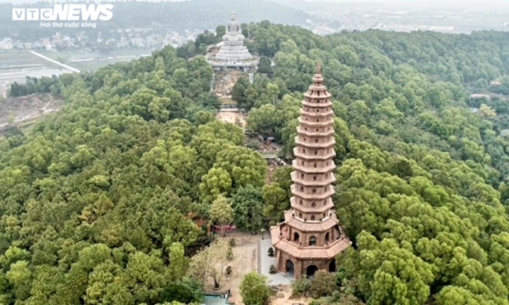 Khám phá chùa Phật Tích nghìn năm tuổi qua góc máy từ trên cao - 6