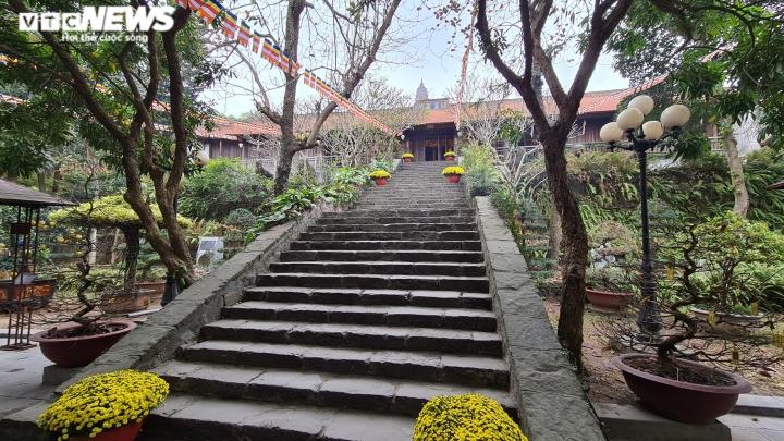 Khám phá chùa Phật Tích nghìn năm tuổi qua góc máy từ trên cao - 3