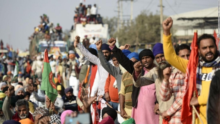 10 هزار کشاورز هندی به پایتخت اعتراض می رسند - 1
