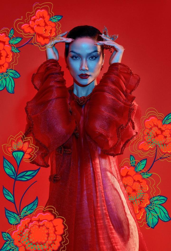 H'Hen Nie hoá thân mỹ nữ trong tranh Đông Hồ - 6