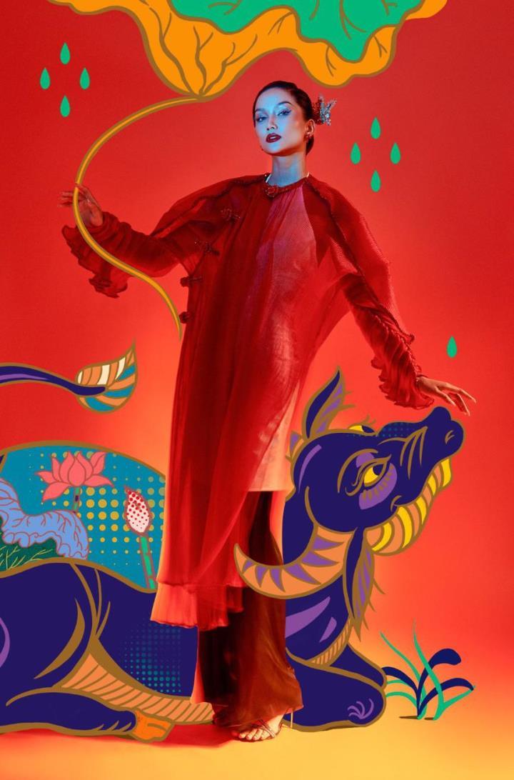 H'Hen Nie hoá thân mỹ nữ trong tranh Đông Hồ - 5
