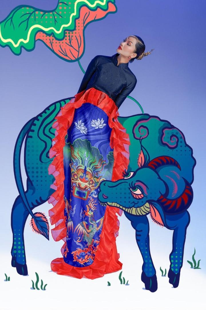H'Hen Nie hoá thân mỹ nữ trong tranh Đông Hồ - 1