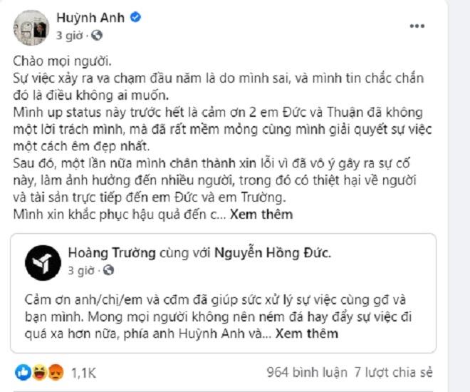 Diễn viên Huỳnh Anh bị tố gây tai nạn giao thông, né bồi thường - 3