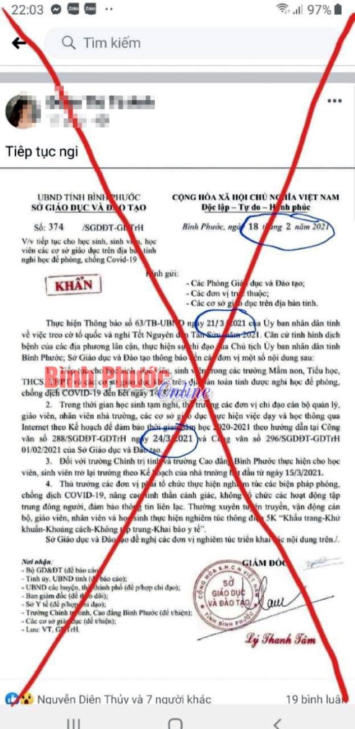 Đề nghị phạt 10 triệu đồng cô gái đăng công văn giả mạo Sở GD&ĐT Bình Phước - 2