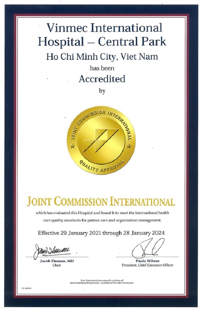 Bệnh viện Vinmec Central Park - TP.HCM nhận chứng chỉ quốc tế JCJ lần II - 1