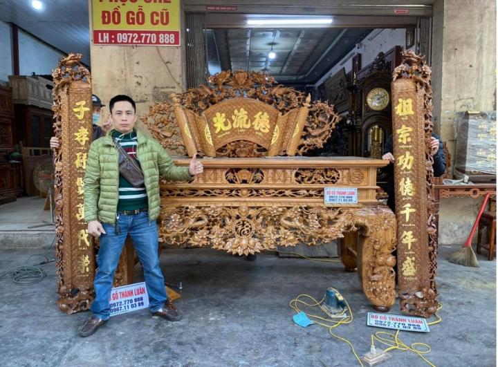 Đồ gỗ cổ truyền cao cấp Thành Luân: 'Thổi hồn' cho gỗ mỹ nghệ - 4