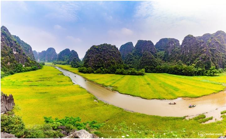 Mơ màng giữa sắc vàng thơ mộng của cánh đồng 'đẹp nhất Việt Nam' mùa lúa chín  - 4