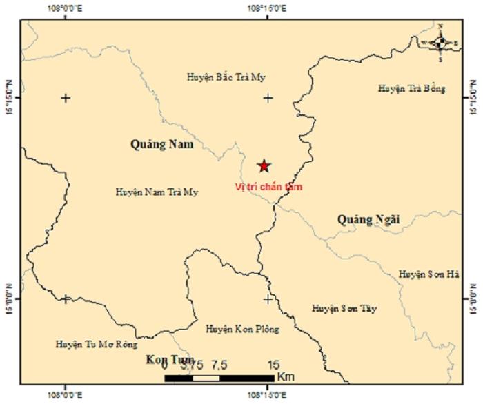 Huyện miền núi ở Quảng Nam lại xảy ra động đất - 1