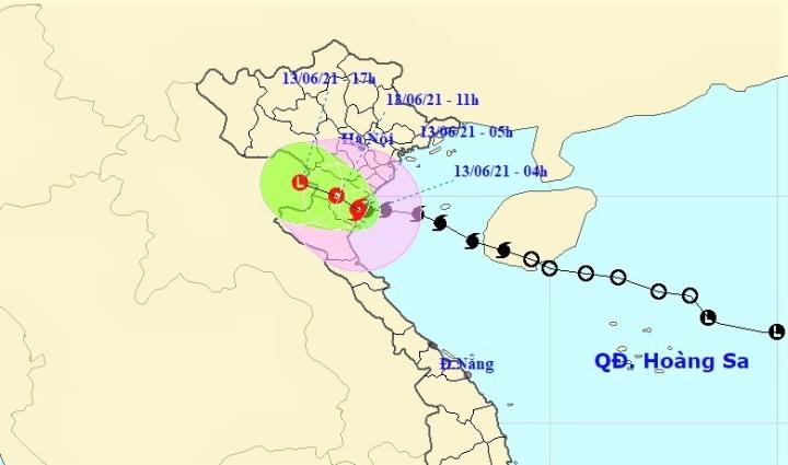 Bão số 2 giật cấp 10, đổ bộ vào đất liền từ Thái Bình đến Nghệ An