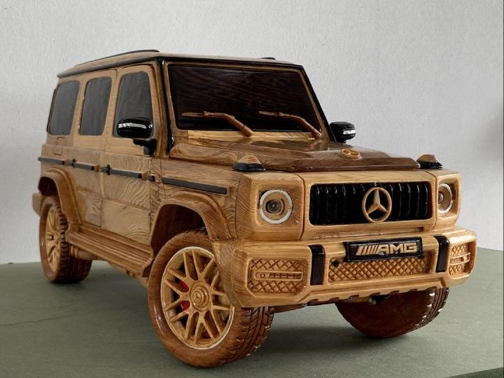 Ngắm mô hình Mercedes-AMG G63 bằng gỗ sang trọng - 1
