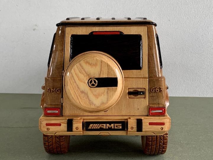 Ngắm mô hình Mercedes-AMG G63 bằng gỗ sang trọng - 2