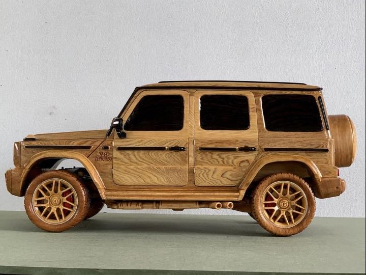 Ngắm mô hình Mercedes-AMG G63 bằng gỗ sang trọng - 4