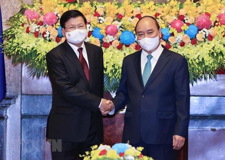 Chủ tịch nước Nguyễn Xuân Phúc hội kiến Tổng Bí thư, Chủ tịch nước Lào - 2