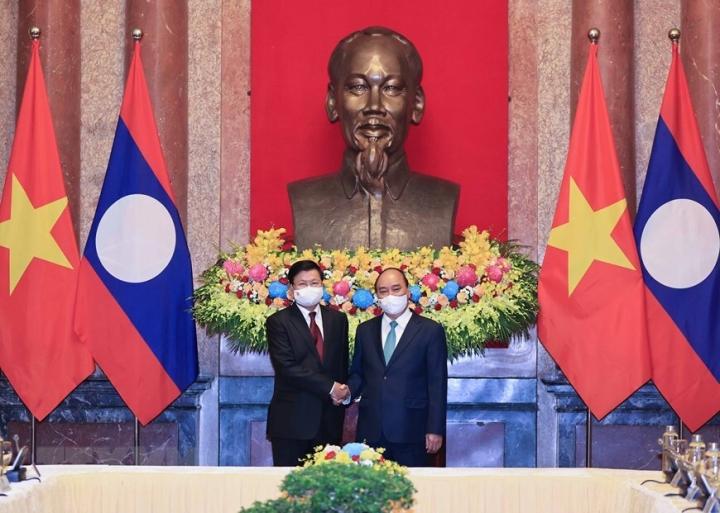 Chủ tịch nước Nguyễn Xuân Phúc hội kiến Tổng Bí thư, Chủ tịch nước Lào - 3