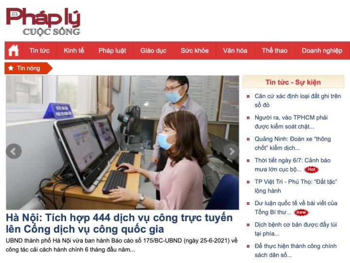 Sở Thông tin và Truyền thông Hà Nội xử phạt 1 trang tin điện tử 75 triệu đồng - 1