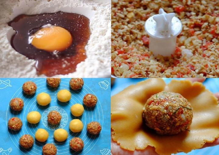 Tết Trung thu 2021: Cách làm bánh trung thu nhân thập cẩm bằng lò vi sóng  - 1