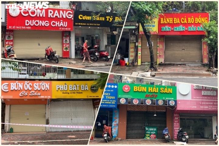 Hà Nội sau 1 tuần nới giãn cách: Đồ bán mang về vắng khách, có quán chưa mở cửa - 2