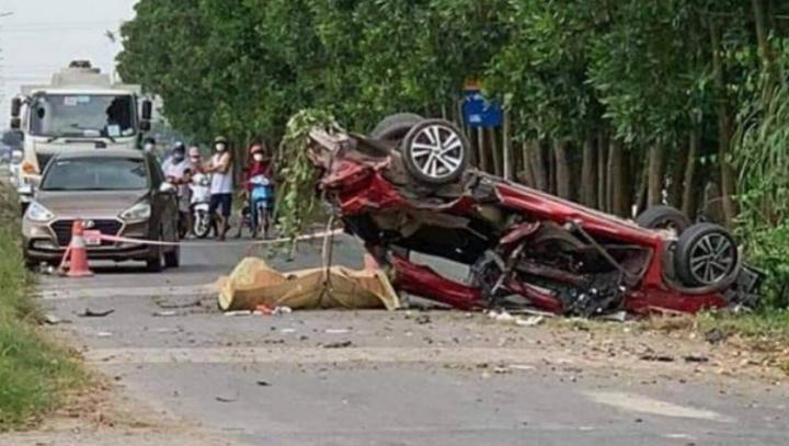 Ô tô con bị vò nát ở Bắc Ninh, 3 người chết: Xác định danh tính các nạn nhân - 1