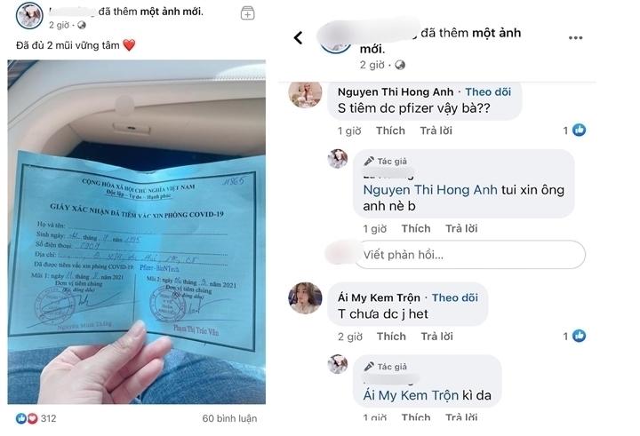 Cô gái tiêm vaccine Pfizer nhờ \'xin ông anh\': Cảnh cáo Phó Chủ tịch phường - 1