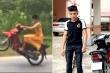 Khoe clip mặc váy bốc đầu xe máy, nam thanh niên ở Tuyên Quang bị phạt 8,4 triệu