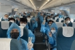 Video: Chuyến bay đầu tiên đưa 186 người dân Đà Nẵng rời TP.HCM về quê