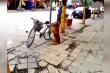 Clip: Chú chó khư khư trông xe giúp chủ trên hè phố