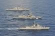 Video: Soi sức mạnh chiến hạm Mỹ, Nhật, Australia tập trận trên Biển Đông