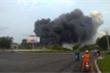 Cháy dữ dội nhiều giờ liền ở Khu công nghiệp Phú Mỹ 1