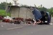 Ô tô chở gà đấu đầu xe tải, tài xế chết tại chỗ