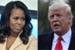 Ông Trump tức giận đáp trả phát ngôn của bà Obama: 'Nhờ chồng bà tôi mới ở đây'