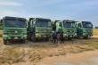 Xử phạt hàng loạt xe 'khủng long' chở cát quá độ cao từ Quảng Nam ra Huế