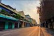 Ảnh: Quán xá đóng cửa, phố phường Hà Nội ngủ yên giữa mùa dịch
