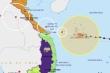Bão số 13 mạnh lên, giật cấp 17, hướng vào Đà Nẵng - Thừa Thiên Huế