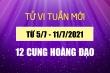 12 cung hoàng đạo tuần mới 5/7-11/7: Xử Nữ có tin vui, Bảo Bình gặp biến động