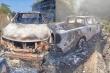 Phát hiện thi thể trong xe bán tải cháy trơ khung