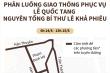 Infographic: Cấm nhiều tuyến đường phục vụ Quốc tang nguyên TBT Lê khả Phiêu