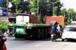 Xe container tông thiếu úy công an thiệt mạng