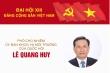 Infographic: Sự nghiệp Phó Chủ nhiệm Ủy ban KHCN&MT của Quốc hội Lê Quang Huy
