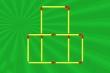 Di chuyển 3 que diêm để tạo thành 11 hình vuông