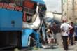 Xe khách gây tai nạn liên hoàn tại Vĩnh Long, 5 người bị thương nặng