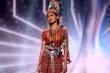 Mất hành lý, Hoa hậu Myanmar vẫn thắng giải Trang phục dân tộc tại Miss Universe
